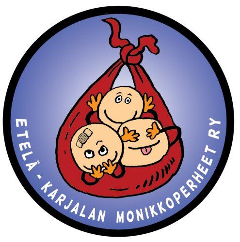 Etelä-Karjalan Monikkoperheet ry logo